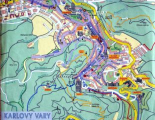 карта карловых вар с улицами