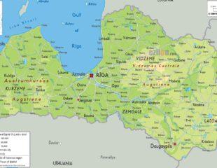 карта латвии с городами