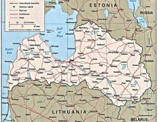 карта границ латвии
