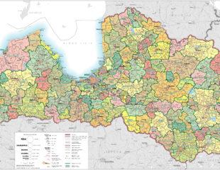 карта латвии с районами
