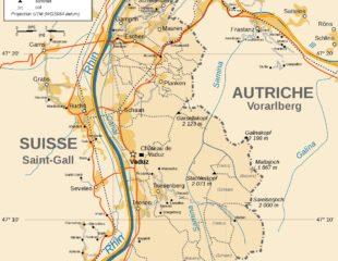карта лихтенштейна подробная