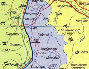 карта лихтенштейна на русском
