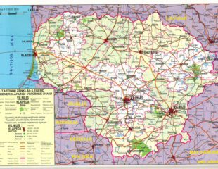 карта литвы с границами
