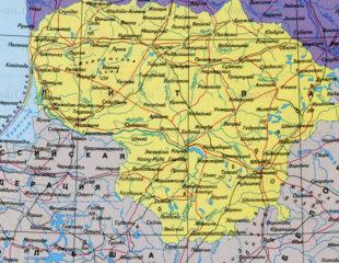 карта литвы на русском