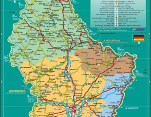карта люксембурга подробная