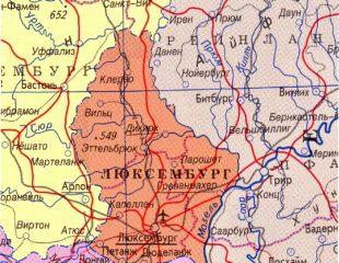 карта люксембурга на русском