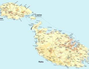 карта мальты подробная