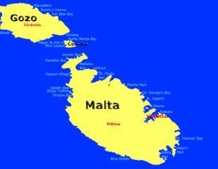 пляжи на карте мальты