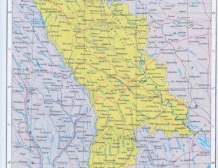карта молдовы с городами на русском