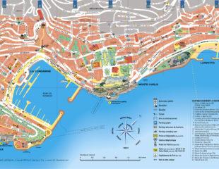 достопримечательности монако на карте