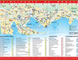 карта города монако