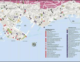 карта монако подробная с улицами
