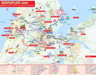 карта достопримечательностей нидерландов