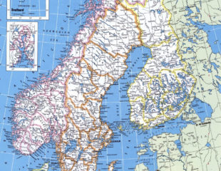 карта норвегии и финляндии