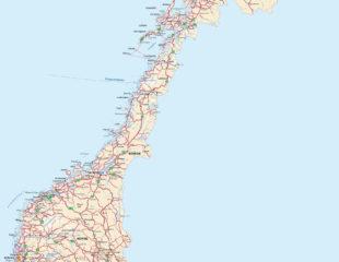 карта норвегии подробная