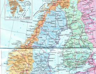 карта норвегии на русском