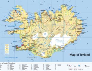 карта острова исландия
