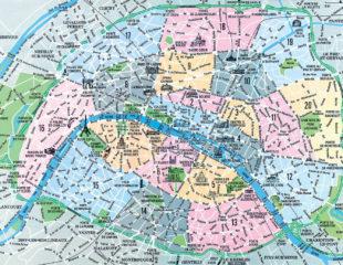 карта округов парижа