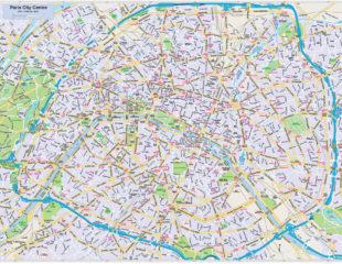 карта парижа подробная
