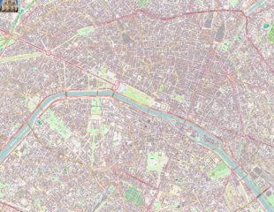 карта улиц парижа