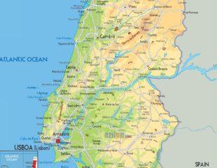 карта португалии с городами