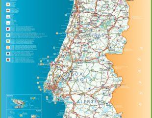 туристическая карта португалии