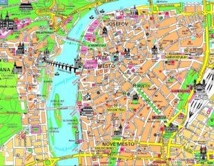 карта центральной части праги