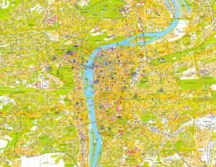 достопримечательности праги на карте