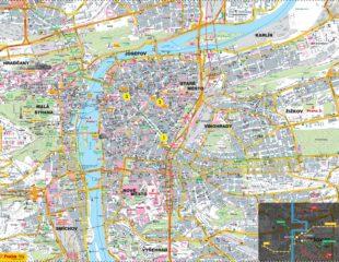 карта праги подробная