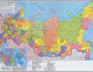 карта областей россии