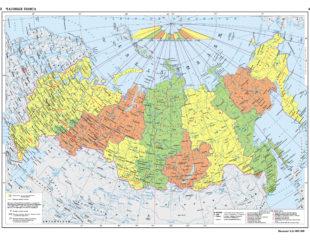 карта россии подробная