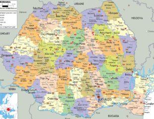 карта румынии с городами