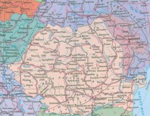 карта румынии на русском