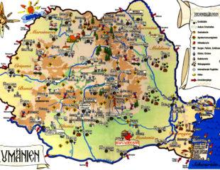 замки румынии на карте