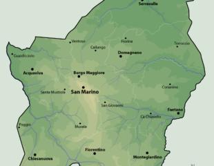 карта сан-марино физическая