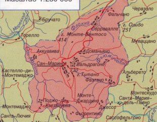 карта сан-марино на русском