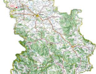 дороги сербии на карте
