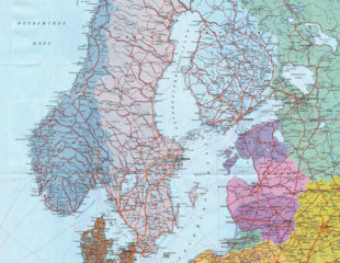 карта северной европы на русском
