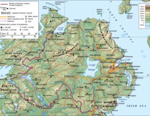 подробная карта северной ирландии