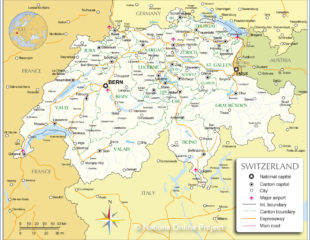 карта аэропортов швейцарии