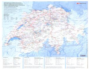 карта швейцарии с дорогами