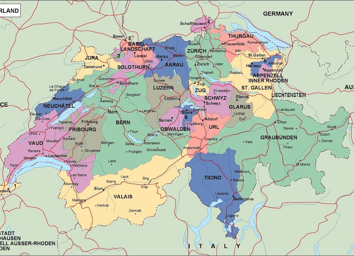Karta Shvejcarii Na Russkom Yazyke Shvejcariya Na Karte Mira