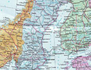 карта швеции на русском