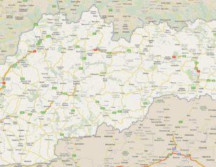 карта словакии с дорогами