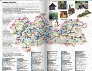 карта достопримечательностей словакии