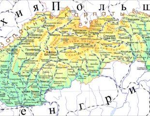 карта словакии на русском