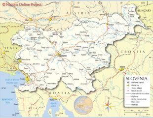 карта словении с городами