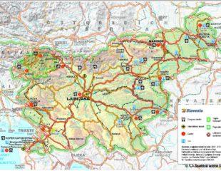карта курортов словении
