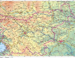 карта словении подробная