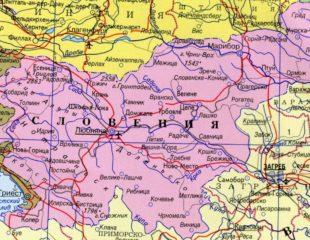 карта словении на русском